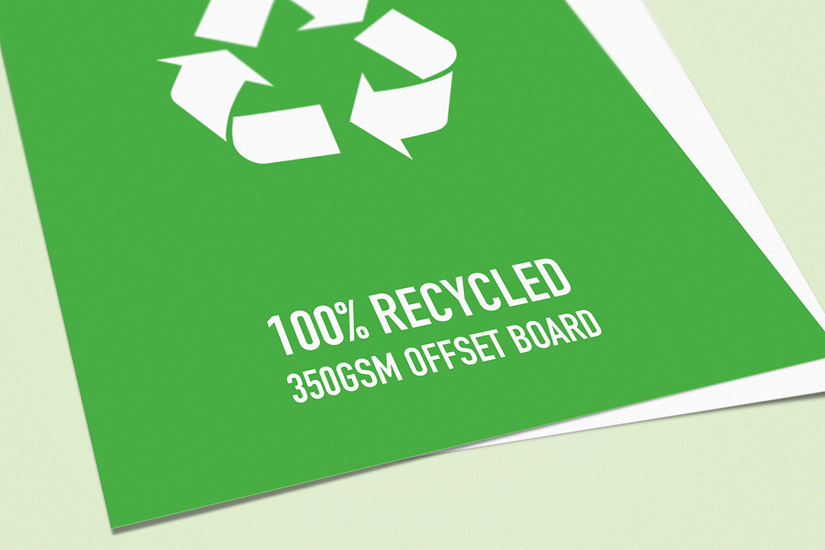 February offer - FREE Upgrade to Recycled Flyers