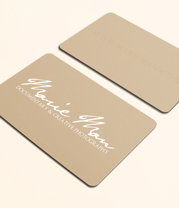 Shaped Deluxe Business Cards - JamJar Print